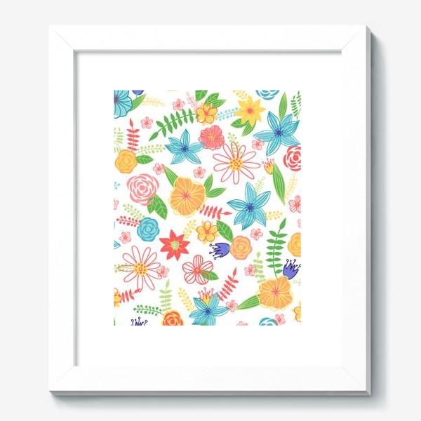 Картина «Летний цветочный паттерн»