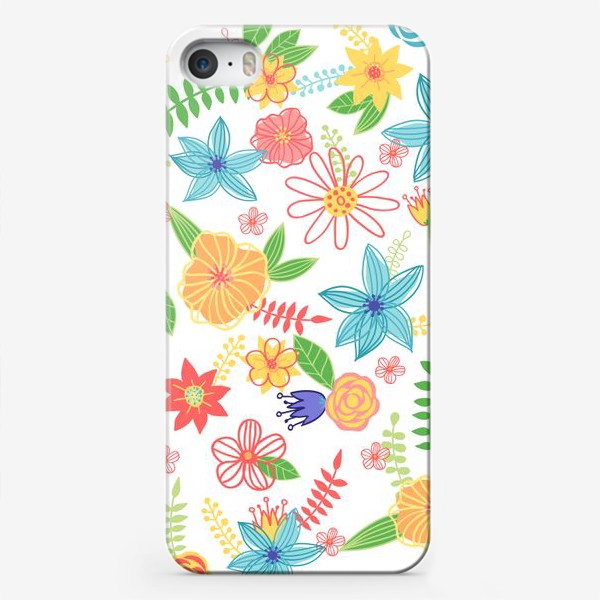 Чехол iPhone «Летний цветочный паттерн»