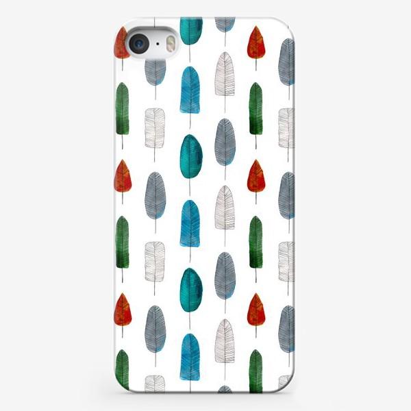 Чехол iPhone «Геометричные листья»