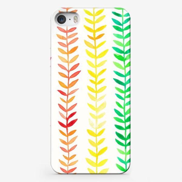 Чехол iPhone «Радуга из листьев»