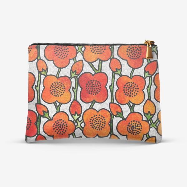 Косметичка «Рыжие яблони цветы»