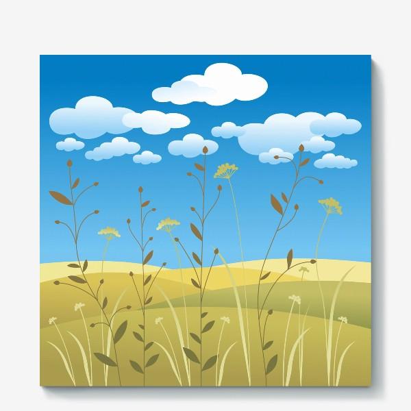 Холст «Поля. Травы.»