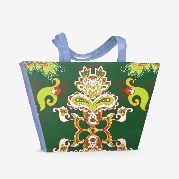 Пляжная сумка «Индийский бохо узор»