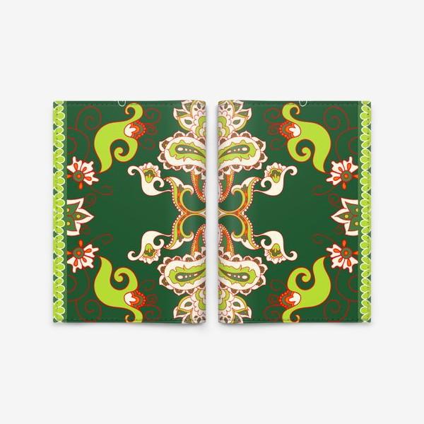 Обложка для паспорта «Индийский бохо узор»