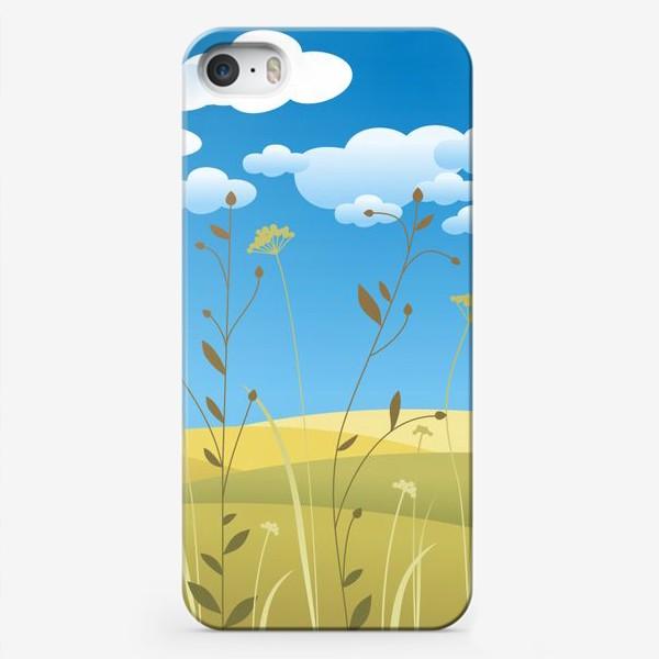 Чехол iPhone «Поля. Травы.»