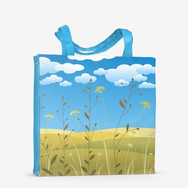 Сумка-шоппер «Поля. Травы.»