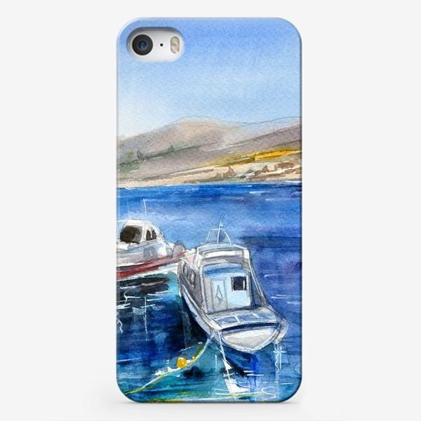 Чехол iPhone «Морской пейзаж с лодками»