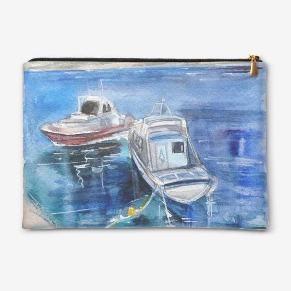 Косметичка «Морской пейзаж с лодками»