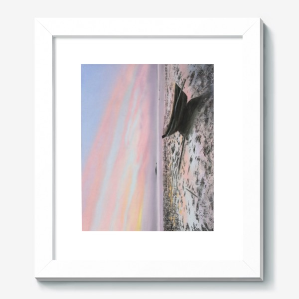 Картина «закат на море с лодкой»
