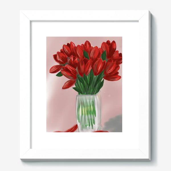Картина «Красные тюльпаны»