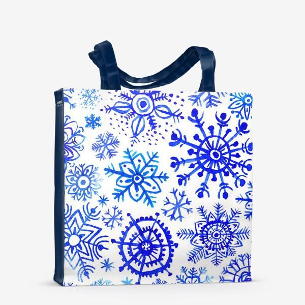 Сумка-шоппер «Снежинки гжель»