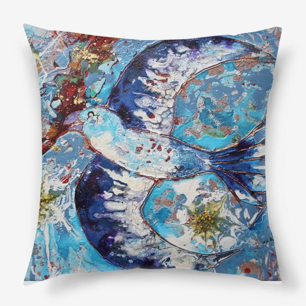 Подушка «Синяя птица счастья»