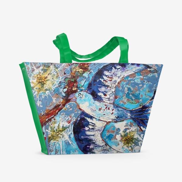 Пляжная сумка «Синяя птица счастья»