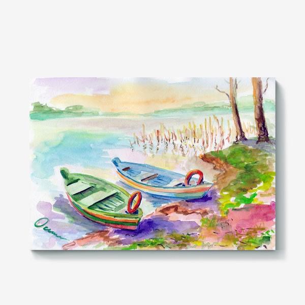 Холст «Лодки. Тракай (Литва).»
