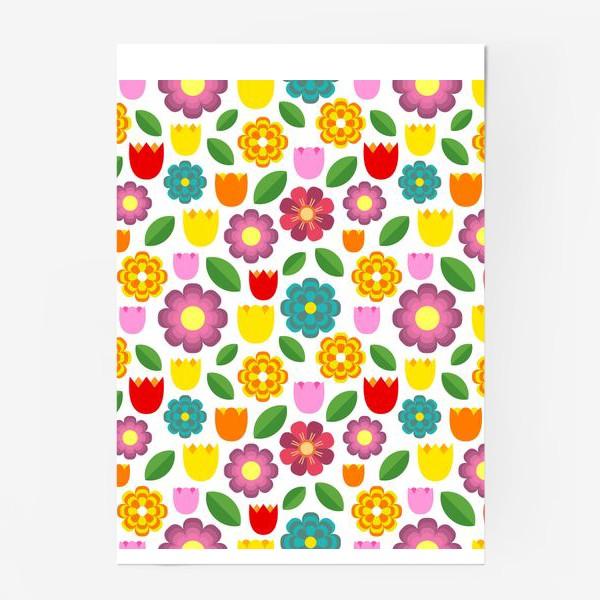 Постер «Яркие цветы»