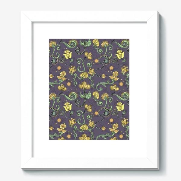 Картина «Абстрактные цветы бохо»