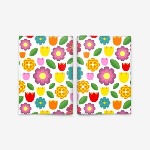 Обложка для паспорта «Яркие цветы»