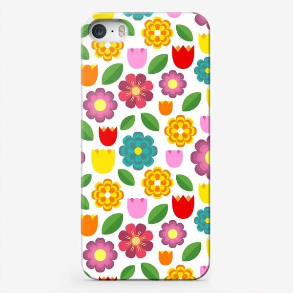 Чехол iPhone «Яркие цветы»