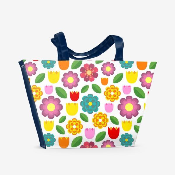 Пляжная сумка «Яркие цветы»