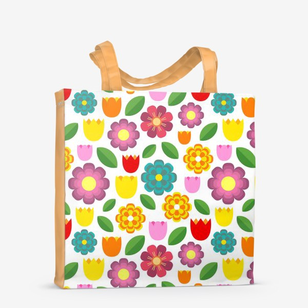 Сумка-шоппер «Яркие цветы»