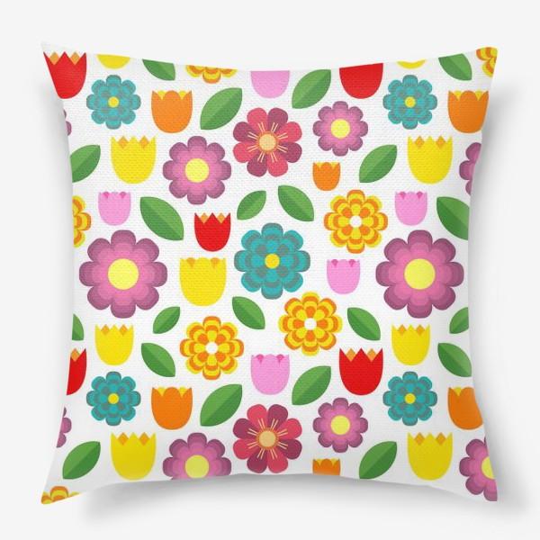 Подушка «Яркие цветы»