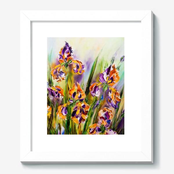 Картина «Разноцветные ирисы»