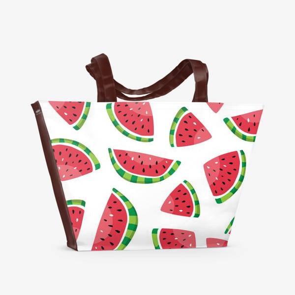 Пляжная сумка «Сочные арбузики»
