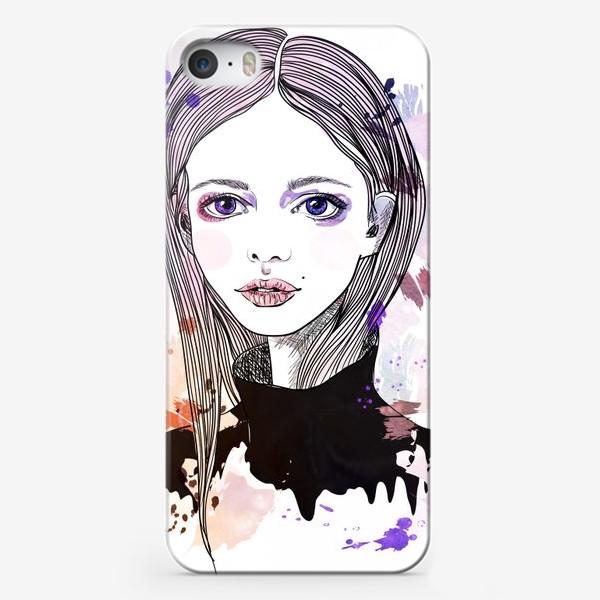 Чехол iPhone «Девушка с фиалковыми глазами»