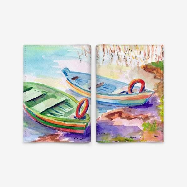Обложка для паспорта «Лодки. Тракай (Литва).»