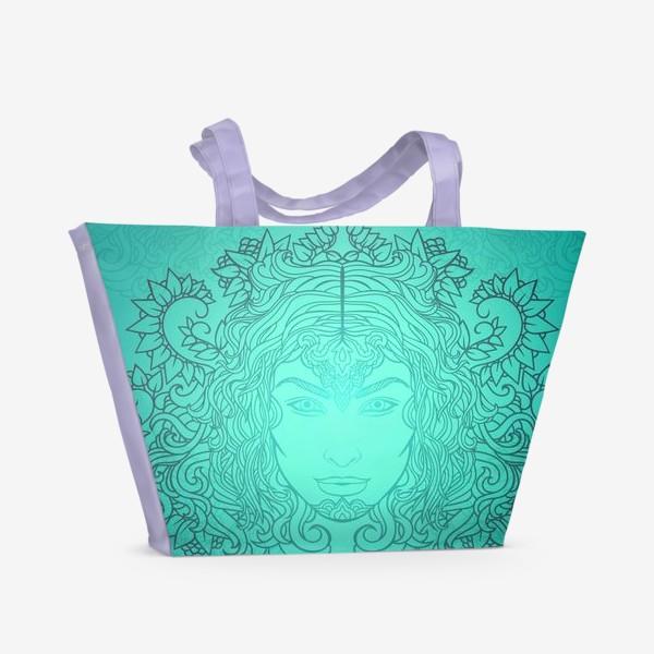 Пляжная сумка «Лазурное свечение»