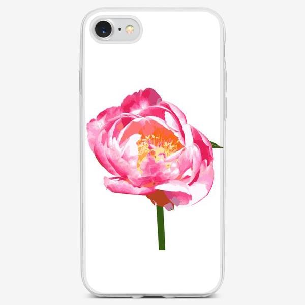 Чехол iPhone «Пион в стиле поп-арт»
