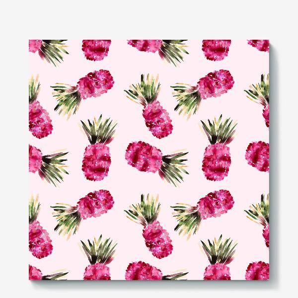 Холст «Розовые ананасы»