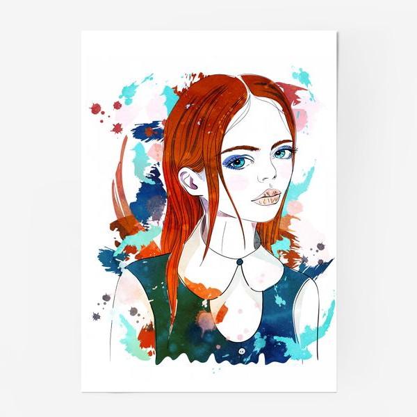 Постер «Рыжеволосая девушка»