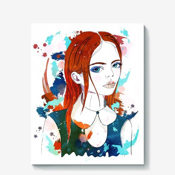 Холст «Рыжеволосая девушка»