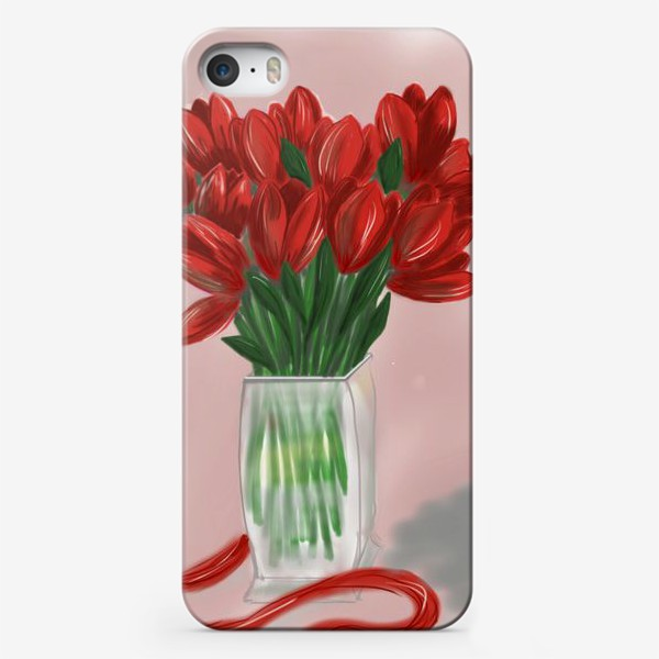 Чехол iPhone «Красные тюльпаны»