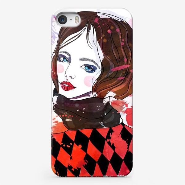 Чехол iPhone «Бубновая дама»