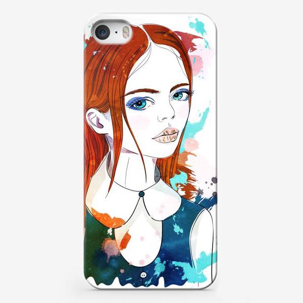 Чехол iPhone «Рыжеволосая девушка»