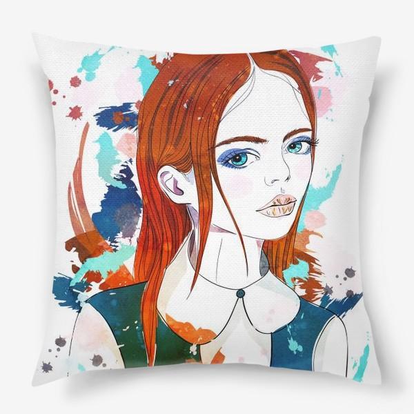 Подушка «Рыжеволосая девушка»
