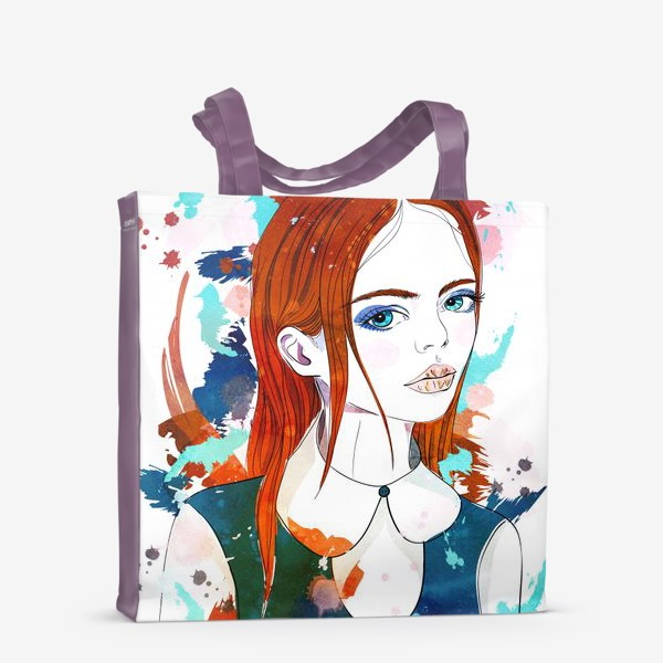 Сумка-шоппер «Рыжеволосая девушка»