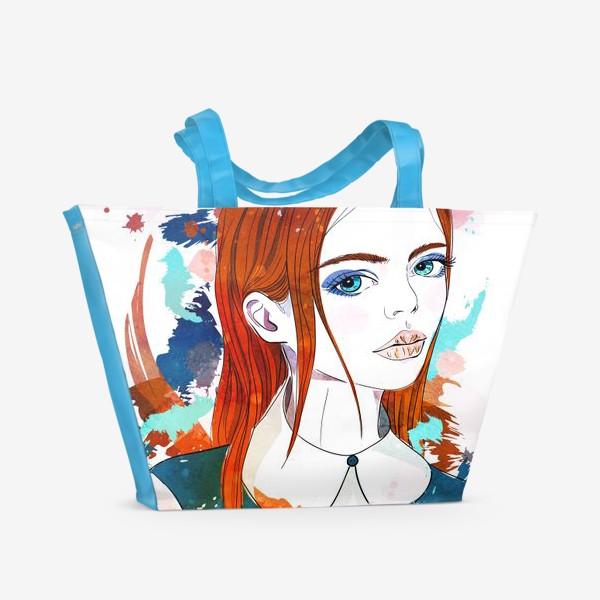 Пляжная сумка «Рыжеволосая девушка»