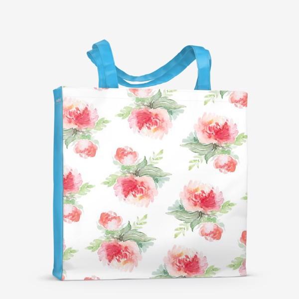 Сумка-шоппер «Розовые пионы»