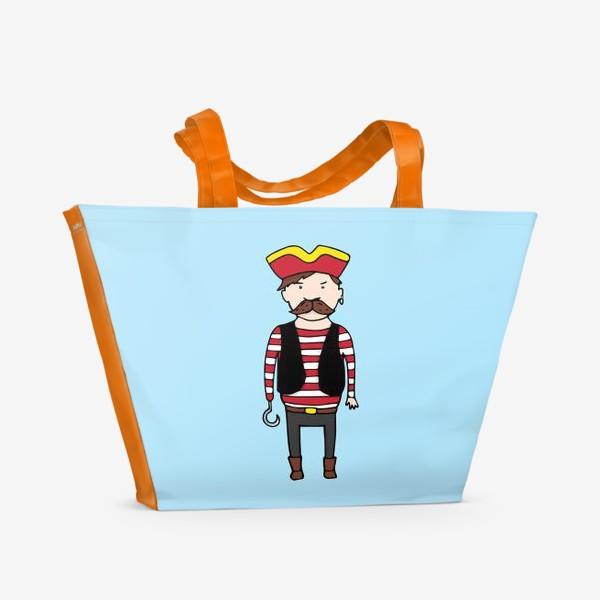 Пляжная сумка «Пират с крюком»
