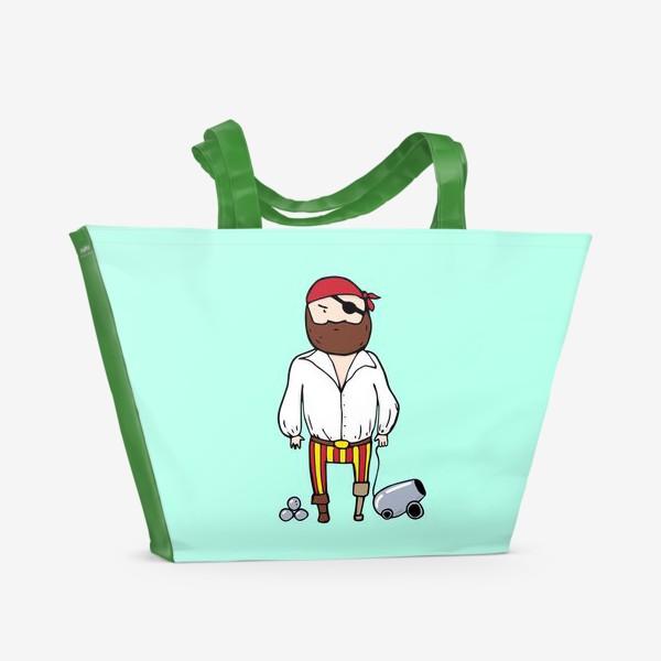 Пляжная сумка «Пират с пушкой»
