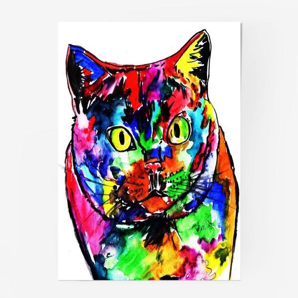 Постер «Кот неон»
