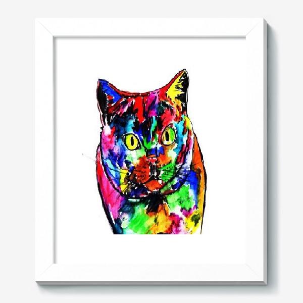 Картина «Кот неон»