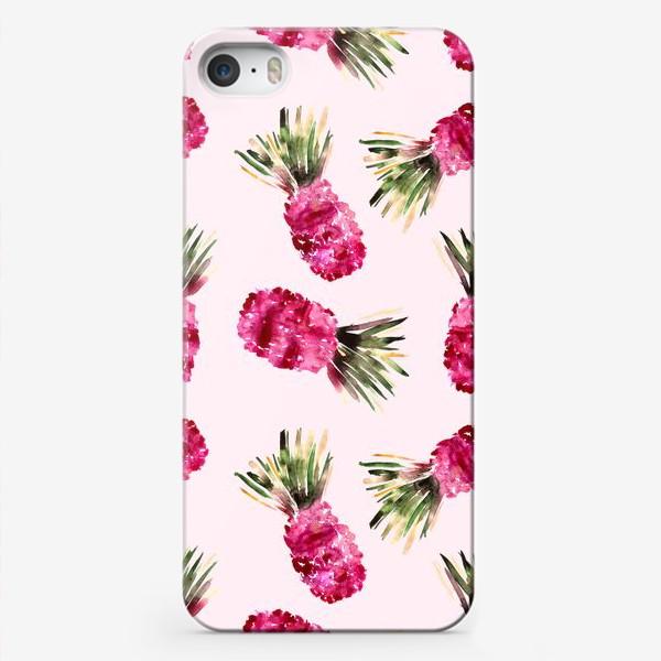 Чехол iPhone «Розовые ананасы»