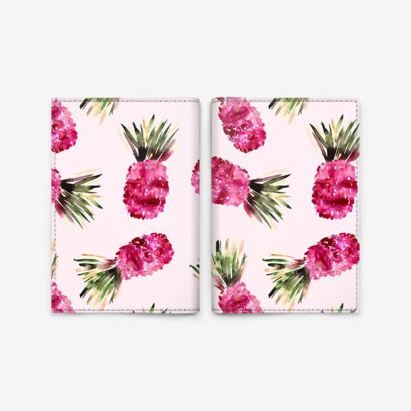 Обложка для паспорта «Розовые ананасы»