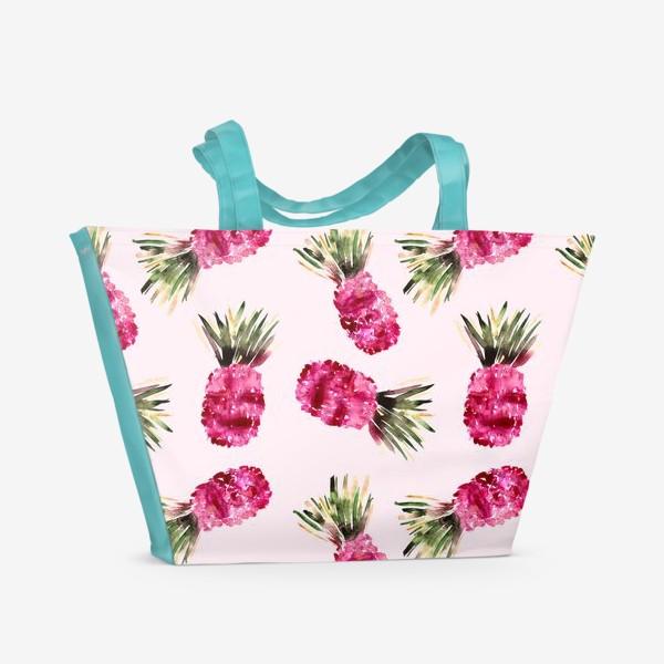 Пляжная сумка «Розовые ананасы»