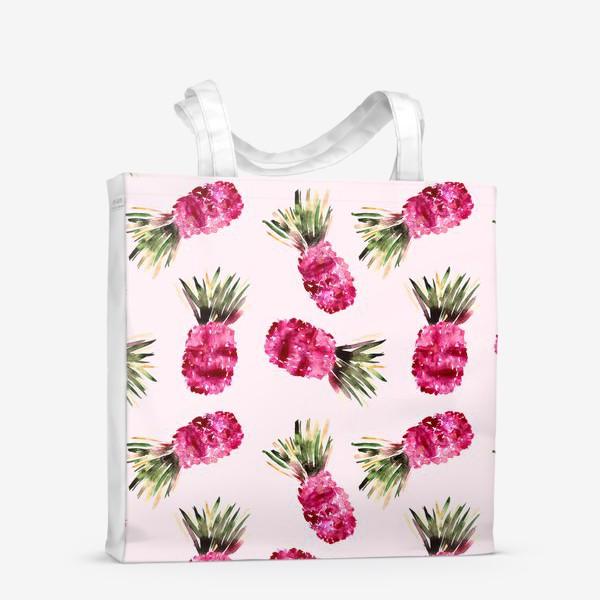 Сумка-шоппер «Розовые ананасы»