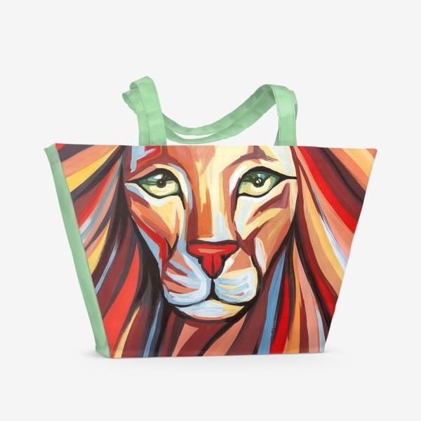 Пляжная сумка «Радужный Лев»